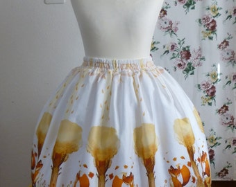 Artemis skirt  - Classic Lolita skirt with autumn fox print