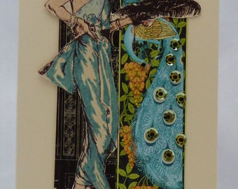 Handmade Card - Exotic Lady