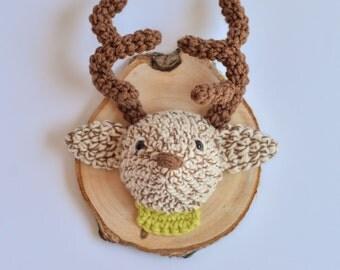Handmade Animal Friendly Deer Trophy - Faux Taxidermy, Plush, Stuffed Animal, Nursery Decor