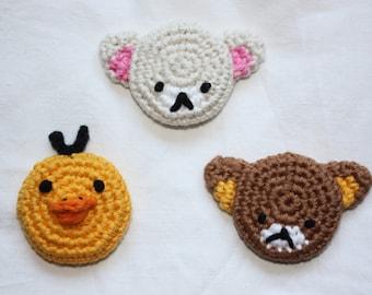 Rilakkuma, Korilakkuma, Kiiroitori - Crochet Magnets