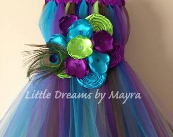 how to make a peacock tutu dress