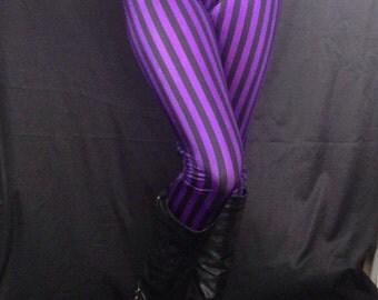 Striped Meggings // Steampunk Leggings // Pirate Pants // Renaissance tights