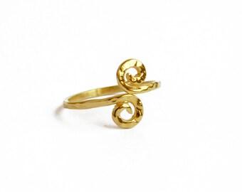 Gold Spiral Ring, Adjustable Gold-filled Ring, Fashion Jewelry Ring,  Wholesale Spiral Ring, Wholesale Jewelry Supplies, Trendy Jewelry Ring