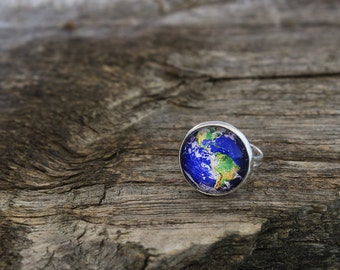 Earth Ring, Earth, Planet Earth Ring, Planet Ring, Solar System Ring, Planets Ring, Planet Jewelry, Solar System, Galaxy Ring, Space Ring