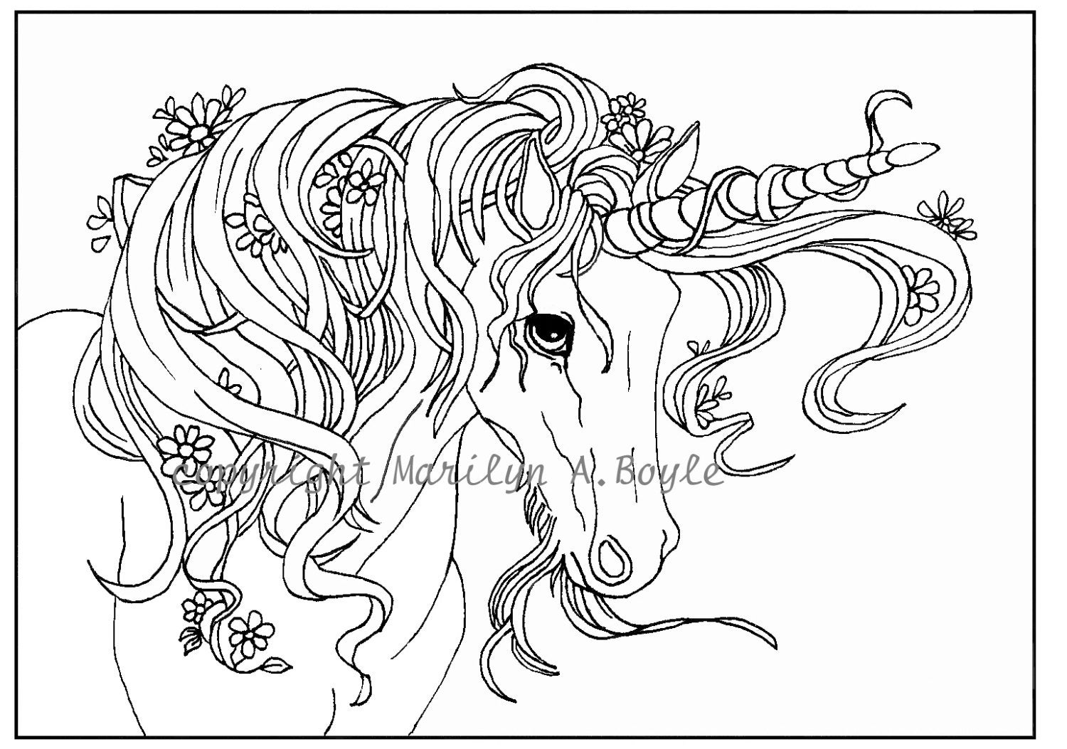 Clean image with regard to free printable unicorn coloring pages