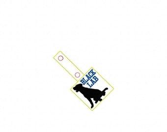 Black Lab -  In The Hoop - Snap/Rivet Key Fob - DIGITAL Embroidery Design