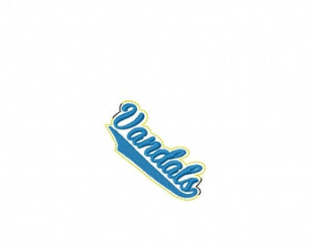 Vandals - Team Headband Slip On - DIGITAL EMBROIDERY DESIGN