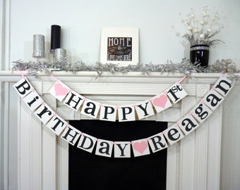 Happy Birthday / Birthday Party Banner / Sign / Happy Birthday Decorations / Photo Prop / Office Party Garland / Boy or Girl Birthday Party