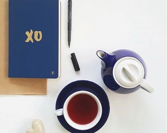 A5 XO Journal - Navy/Gold Foil