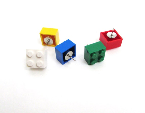 Thumb tacks made with LEGO® brick pieces made by ...