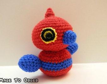 Crochet Porygon-Z Inspired Chibi Pokemon