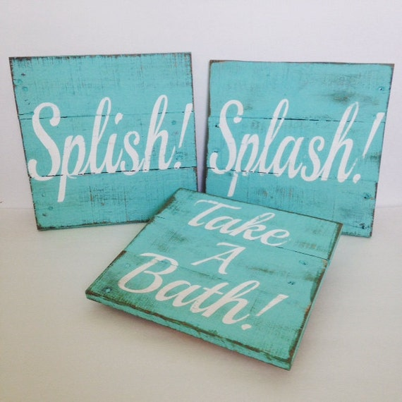 Bathroom Sign Vintage Pallet Wood Signs By Thecreativepallet