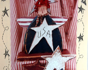 USA Annie By Jodi Gadoury And Country Thoughts Tole And Decorative Painting Pattern Packet 1999