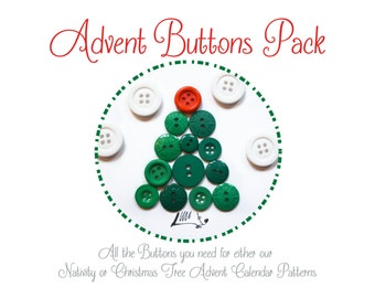 Advent Calender Buttons • No Pattern Included •