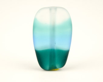 Teal Shift - Handmade Lampwork Glass Focal Bead SRA