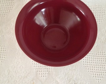 Signed Lietzke Large Cranberry Red Bowl