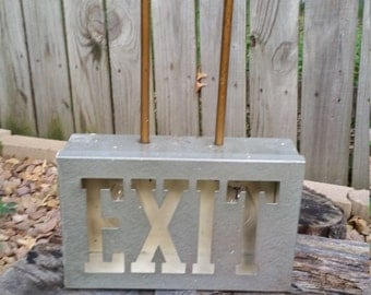 Vintage Extended Hanging Exit Sign EXCELLENT CONDITION