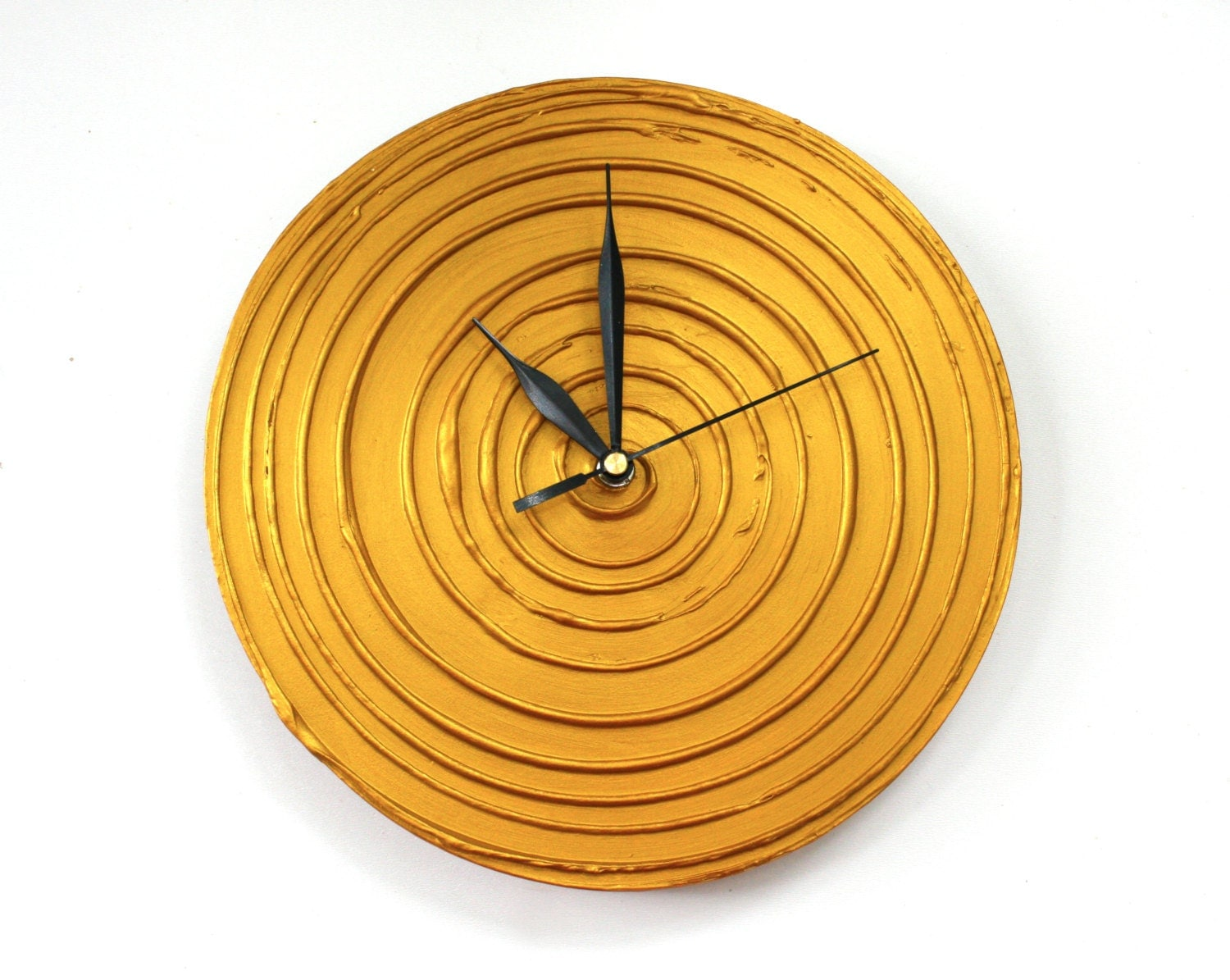 gold wall clock modern wall clock unique clock. Black Bedroom Furniture Sets. Home Design Ideas