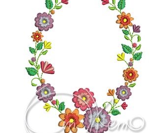MACHINE EMBROIDERY DESIGN - Floral design, Floral ornament, flowers