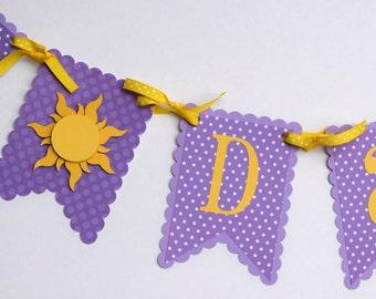 Best Day Ever banner, Tangled inspired banner, Rapunzel banner, princess banner