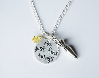 How I Met Your Mother Inspired Necklace. HIMYM TV Show. You Just Find Things.