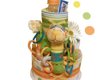 Baby Love Diaper Cake - Baby Shower Centerpiece and Gift - FREE SHIPPING!