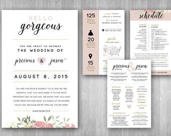 Custom Wedding Program Infographic Booklet 5.5x8.5
