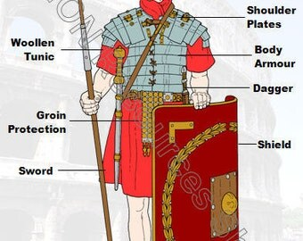 Roman Soldier Printable History Poster