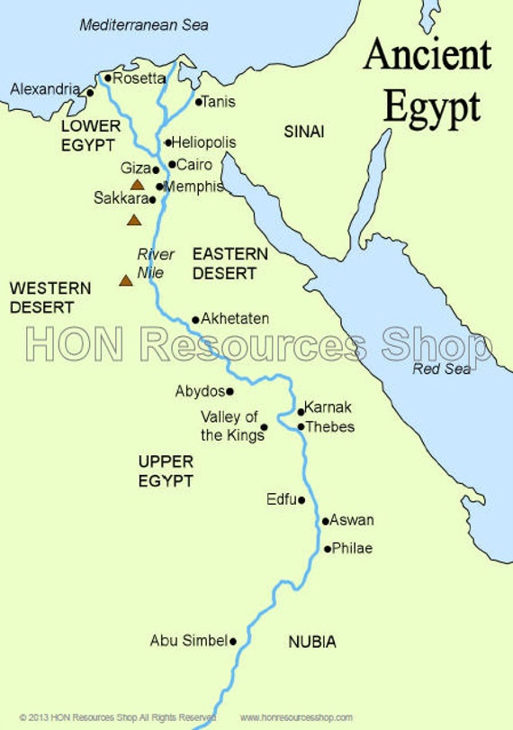Versatile image with printable map of egypt