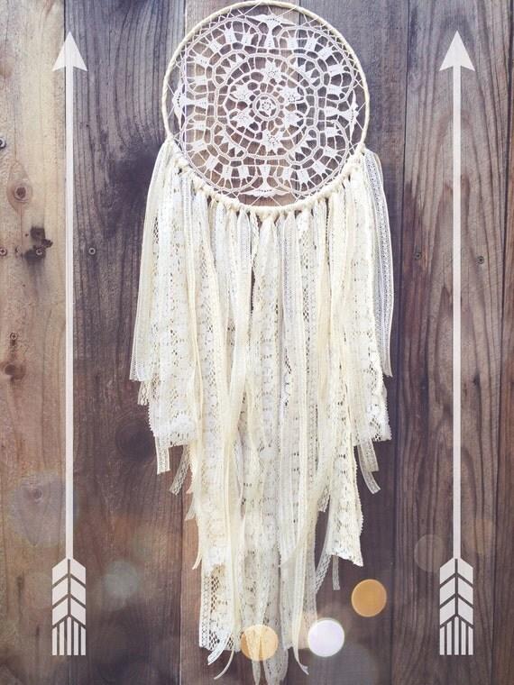 SALE Vintage Lace Shabby Chic Boho Hippie Gypsy Crochet Doily