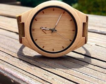 Pine Wood Watch, Wooden Watch, Minimalist Wood Watch for Men, Personalized Watch, Wooden Watch, Wedding, Anniversary Gift, Gift for Him