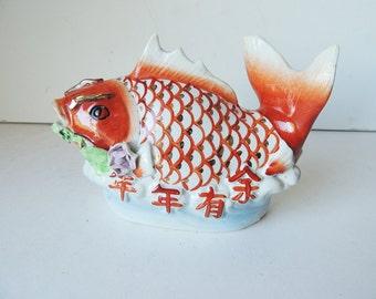 Chinese Porcelain  Koi Carper Fish