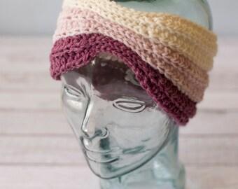 Crochet Ribbed Heandband Ombre - READY TO SHIP