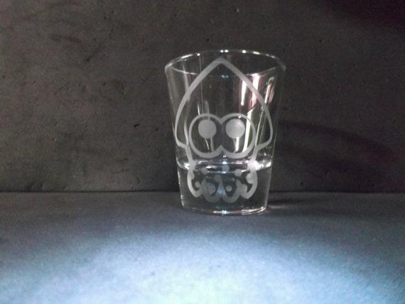 Splatoon Squid Etched shotglass (1 glass)
