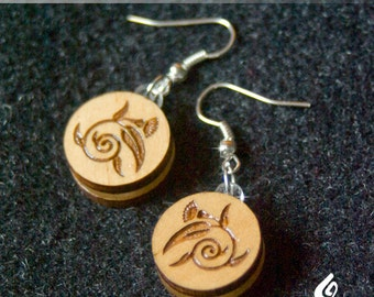 Timber Leaf and Blossom Earrings