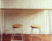 PLYWOOD 2-rod hairpin TABLE