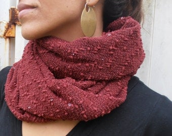 Burgundy Scarf, Fashion Scarves, Bohemian Scarf, Winter Fashion, Scarf, Knit Scarf, Womens Scarves, Womens Gift, Womens Accessories, Boho