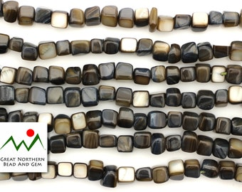 Mother Of Pearl,16IN Strand,Shell Beads,7MM Cube,#GEM020445