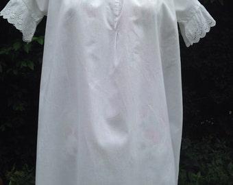Victorian cotton night gown