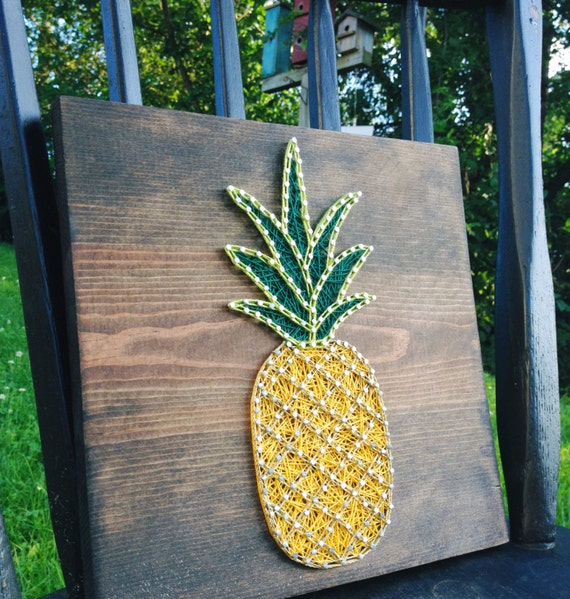 String art string art pineapple pineapple string art nail like this item prinsesfo Gallery