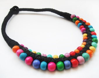 TIBET necklace,hand made,yark bone,colourful