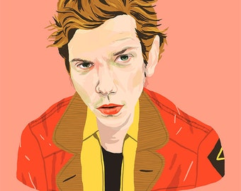 new size* River Phoenix in My own Private Idaho print - 45 x 33 cm
