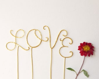 rose gold love wedding cake topper gold wedding cake topper cursive gold 19279