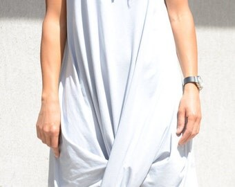 Draped hooded dress, sleeveless mid knee tunic, asymmetric loose dress for oversized women, maxi sizes, stylish collection for ladies