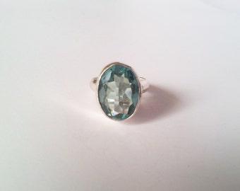 Teal Gemstone Ring Etsy
