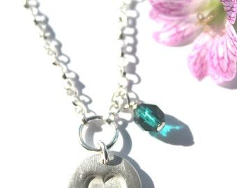 Silver heart necklace, heart necklace silver, heart necklace, silver heart pendant, heart pendant