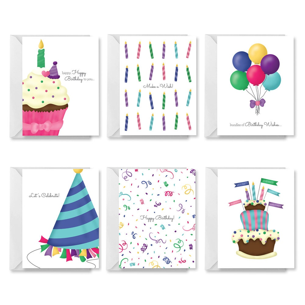 Printable Birthday Card PDF Birthday Card DIY Birthday Card – Set of Birthday Cards
