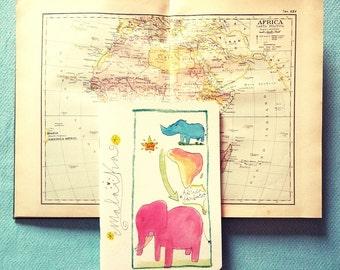 """Notebook """"Africa"""" Fluoriscilla (15x21cm)"""
