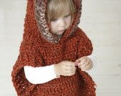 CROCHET PATTERN fox wolf hooded chunky poncho Max (toddler/child/adult sizes)