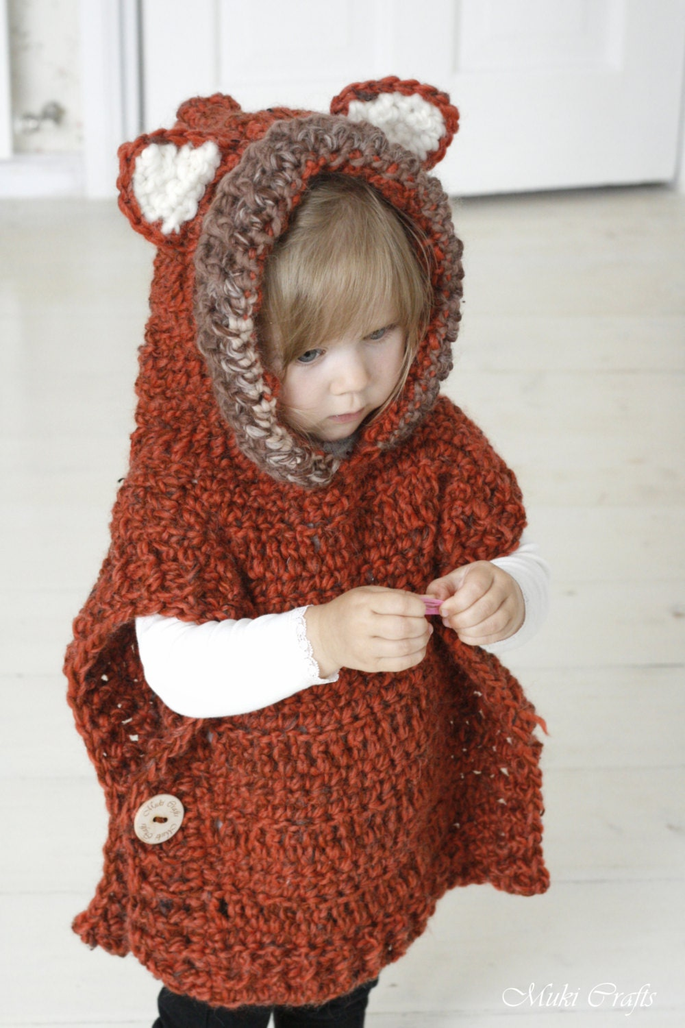 Crochet pattern fox hooded chunky poncho max zoom bankloansurffo Choice Image